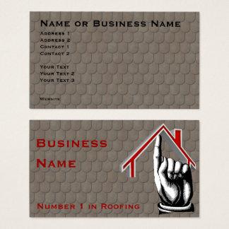 Cartão de visita do número 1 do telhado