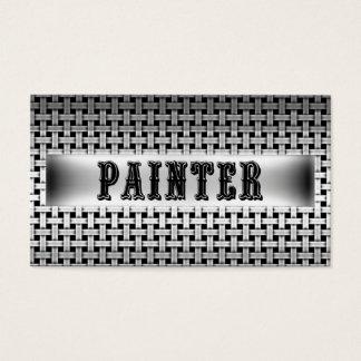 Cartão de visita do olhar do metal do pintor