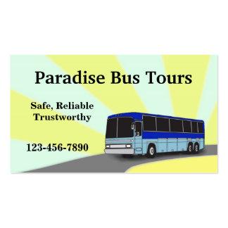 Cartão de visita do ônibus da carta patente