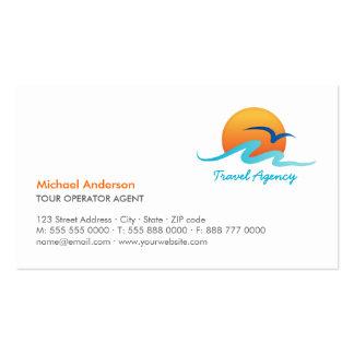Cartão de visita do operador turístico do turismo