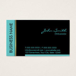 Cartão de visita do Orthodontist da beira da