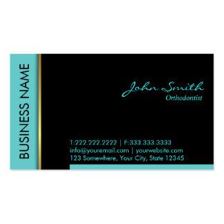 Cartão de visita do Orthodontist da beira da cerce