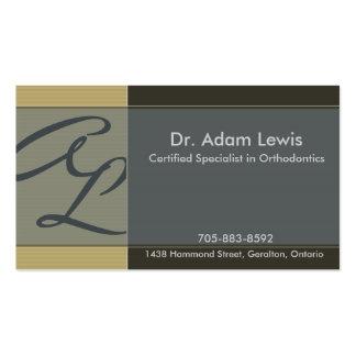 Cartão de visita do Orthodontist - monograma