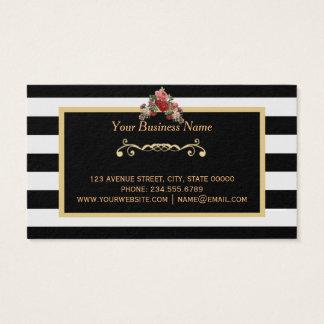 Cartão de visita do ouro do salão de beleza do