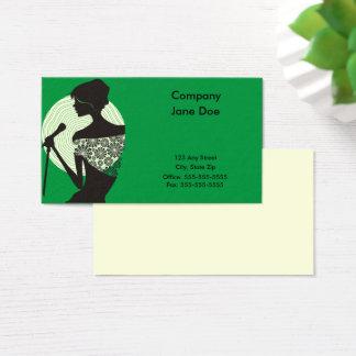 Cartão de visita do pássaro da canção