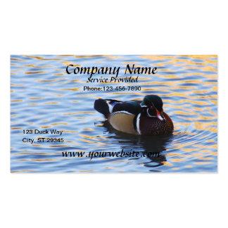 Cartão de visita do pato