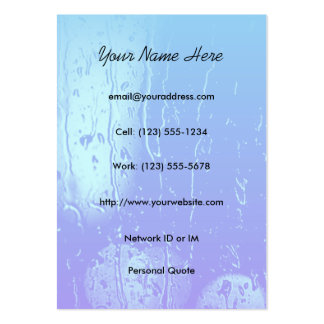Cartão de visita do perfil da arte da água