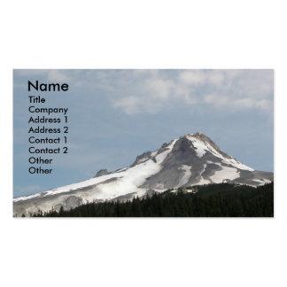 Cartão de visita do perfil da capa da montagem