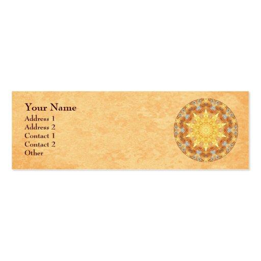 Cartão de visita do perfil da mandala da renovação