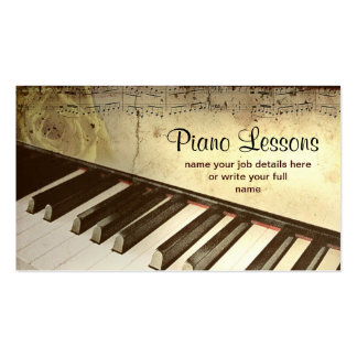 cartão de visita do piano