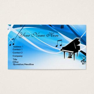 Cartão de visita do piano de cauda