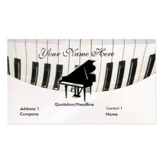 Cartão de visita do piano de cauda e do teclado