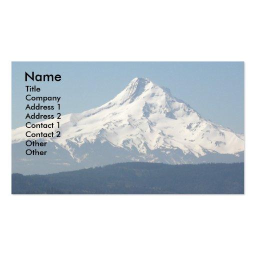 Cartão de visita do pico da capa da montagem