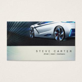 Cartão de visita do piloto do mecânico de carro