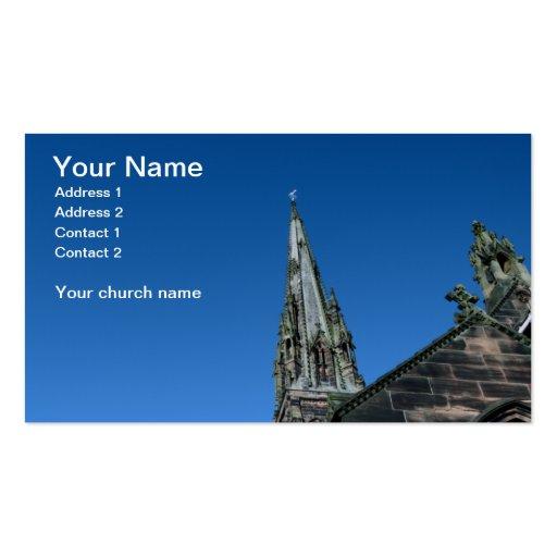 Cartão de visita do pináculo da igreja