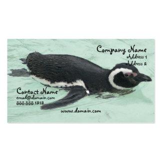 Cartão de visita do pinguim