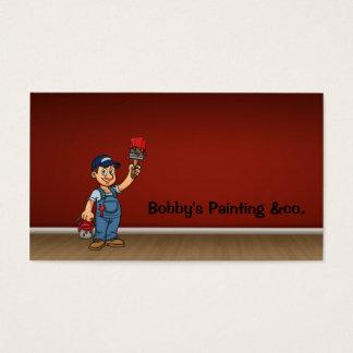 Cartão de visita do pintor