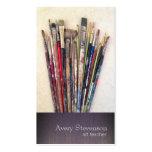 Cartão de visita do pintor das escovas de pintura