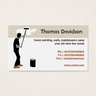cartão de visita do pintor de casa