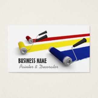 Cartão de visita do pintor e do decorador