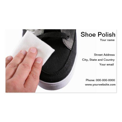Cartão de visita do polimento do líquido de limpez
