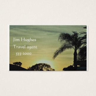 Cartão de visita do por do sol de Florida