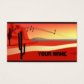 Cartão de visita do por do sol de Kokopelli