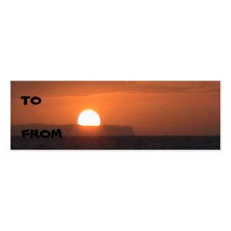 Cartão de visita do por do sol de Ni'ihau
