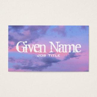 Cartão de visita do por do sol do algodão doce