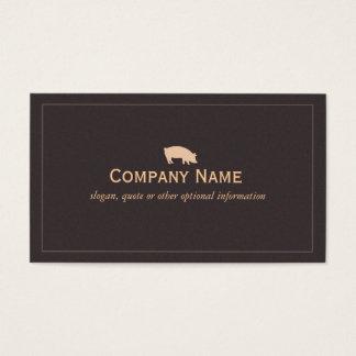 Cartão de visita do porco