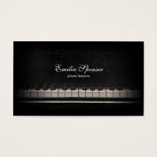Cartão de visita do preto do professor de música