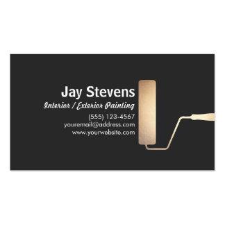 Cartão de visita do preto do rolo de pintura do