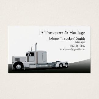 Cartão de visita do preto do transporte do