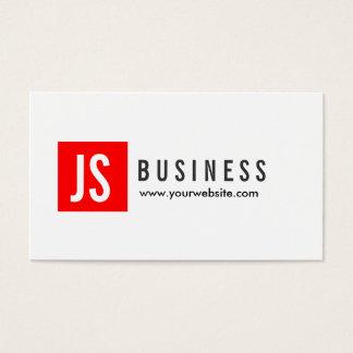 Cartão de visita do produtor do quadrado vermelho