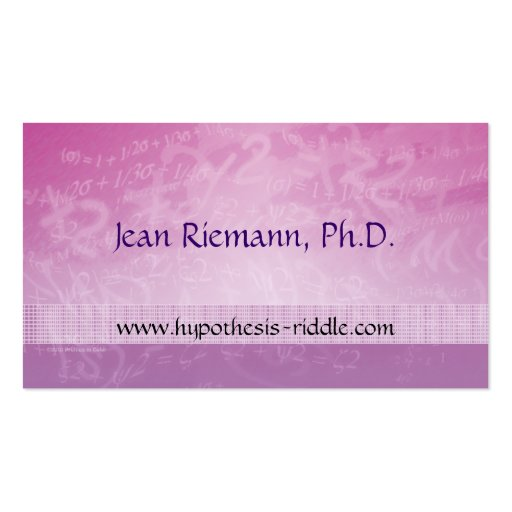 Cartão de visita do prof. Equação da matemática