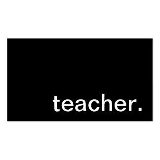 Cartão de visita do professor