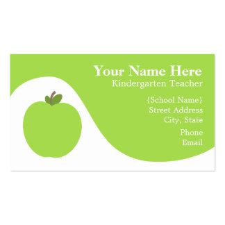 Cartão de visita do professor - Apple verde