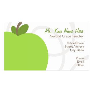 Cartão de visita do professor - Apple verde despro