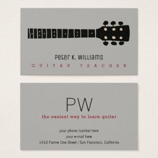 cartão de visita do professor da guitarra com