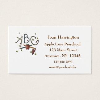 Cartão de visita do professor das estrelas de ABC