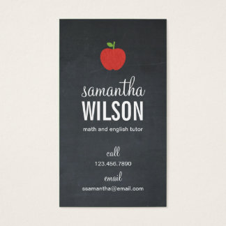 Cartão de visita do professor de Apple do quadro