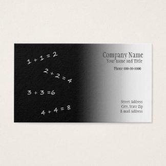 Cartão de visita do professor de matemática