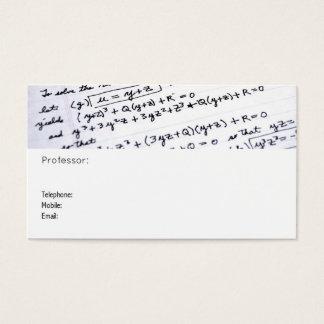 Cartão de visita do professor de Maths
