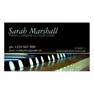 Cartão de visita do professor de música dos teclad