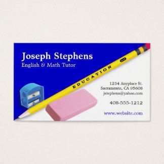 Cartão de visita do professor, do mentor ou do