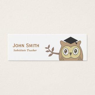 Cartão de visita do professor Substitute do Dr.