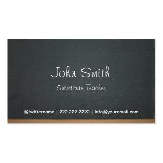 Cartão de visita do professor Substitute do quadro