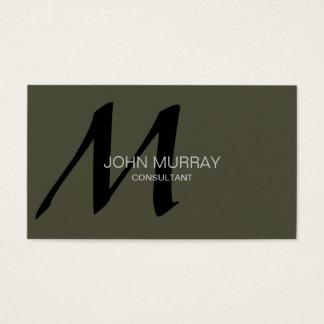 Cartão de visita do profissional do monograma