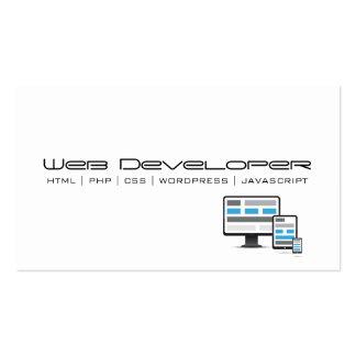 Cartão de visita do programador web