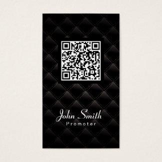 Cartão de visita do promotor do código da edredão